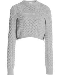 Rosie Assoulin Exclusive Thousand-in-one-ways Wool-cotton Jumper - Grey