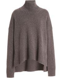 Co. Wool-cashmere Turtleneck Jumper - Brown