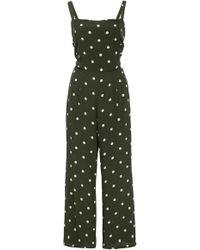 Faithfull The Brand - Playa Cropped Polka Dot Jumpsuit - Lyst