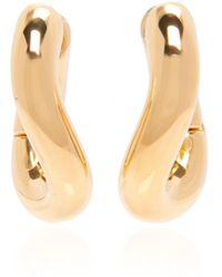 Balenciaga Loop Xs Gold-tone Hoop Earrings - Metallic