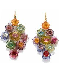 Irene Neuwirth One Of A Kind Lightening Ridge Black Opal Earrings - Multicolour