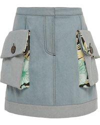 Claudia Li - Patch Pocket Denim Mini Skirt - Lyst