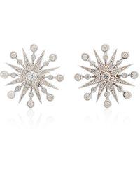 Colette Twinkle 18k White Gold Diamond Earrings