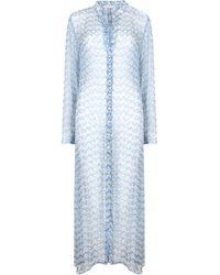 Cloe Cassandro Andrea Silk-chiffon Shirt Dress - Blue