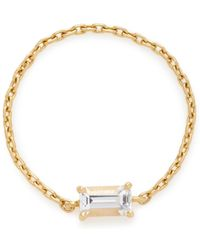 Yi Collection - 18k Gold White Topaz Chain Ring - Lyst