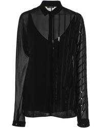 Akris Sequined-embellished Silk-georgette Blouse - Black