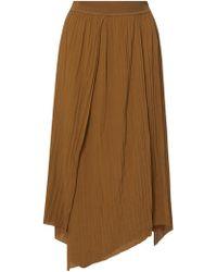 Vince - Asymmetric Plissé Skirt - Lyst