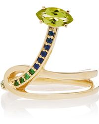 Bea Bongiasca - Gloriosa Lily 9k Rose Gold Multi-stone Ring - Lyst