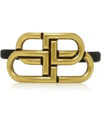 Balenciaga 'bb' Elastic Hair Tie - Metallic