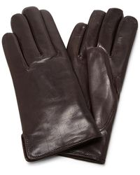 Maison Fabre - Brown Leather And Rabbit Fur Gloves - Lyst