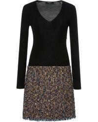 Paule Ka - Tweed Mixed Media Dress - Lyst