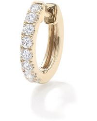 Robinson Pelham 14k Yellow Gold Diamonds Large Orb Hoop - Metallic