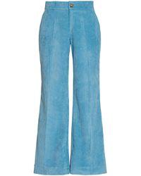 Ciao Lucia Balthazar Corduroy Flared Pants - Blue