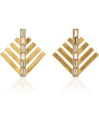 Lulu Frost - Cascadia Gold-plated Crystal Stud Earrings - Lyst