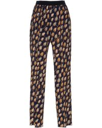Agnona - Printed Trousers - Lyst