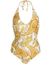 Faithfull The Brand Liza Paisley-print One-piece Swimsuit - Multicolour