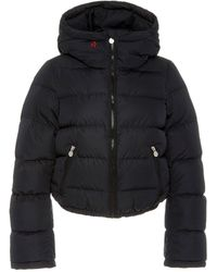 Perfect Moment Polar Flare Hooded Quilted Shell Down Jacket - Black