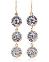 She Bee - 10k Gold Sapphire Earrings - Lyst