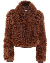Zimmermann Tempo Shearling Leather Bomber Jacket - Brown