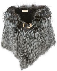 Elie Saab - Leather-trimmed Fur Stole - Lyst