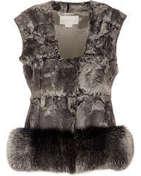 Genny - Nickel Fur Vest - Lyst