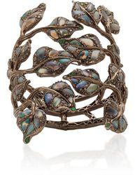Wendy Yue Black Diamond And Opal Bracelet - Blue