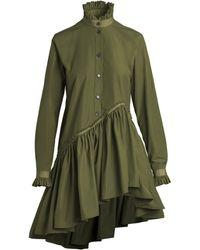 Unttld Robin Cotton-faille Shirt Dress - Green