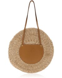 Kayu Belen Leather-trimmed Woven Straw Tote - Brown