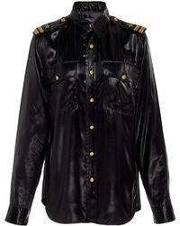 Ralph Lauren - Adora Faux-leather Shirt - Lyst