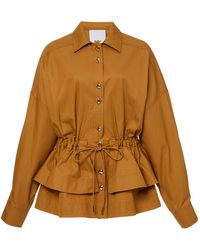 Acler Battan Cinched Jacket - Brown