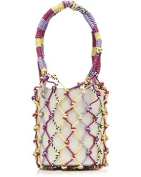 Les Petits Joueurs - Mini Olivia Leather And Rope Bag - Lyst