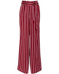 Asceno - Belted Wide Leg Trouser - Lyst