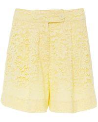 Erdem Howard Lace Shorts - Yellow