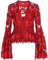 Alexis - Vinton Bell Sleeve Lace Blouse - Lyst