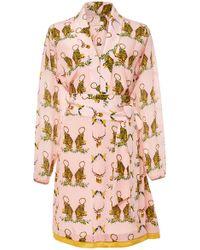 VERANDAH Wrap Tie Mini Dress - Pink