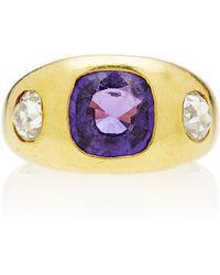 Toni + Chloë Goutal One-of-a-kind Gypsy Purple Sapphire Ring - Metallic