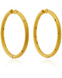 Paula Mendoza | Zenu Gold-plated Brass Hoop Earrings | Lyst