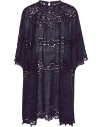Isabel Marant - Marlone Lace-trimmed Ramie Dress - Lyst