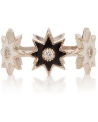 Colette 18k White Gold, Enamel And Diamond Ring