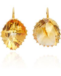 Renee Lewis - 18k Gold Citrine Earrings - Lyst