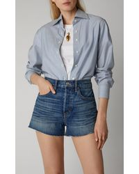 SLVRLAKE Denim Farrah Denim Mini Shorts - Blue