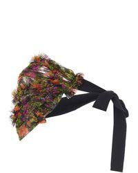 Molly Goddard Nour Ruffled Floral-print Tulle Bolero - Multicolour