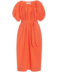 Mara Hoffman Alora Woven-cotton Midi Dress - Orange