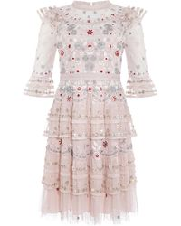 Needle & Thread Eden Dress - Pink