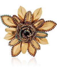 Erickson Beamon - Vermeil Bouquet 24k Gold-plated Crystal Brooch - Lyst