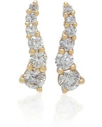 Lynn Ban - Larvae Yellow Gold And Diamond Earrings - Lyst