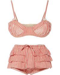 LoveShackFancy Cassandra Cotton Sunsuit - Pink