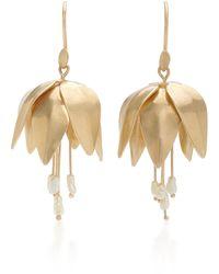 Annette Ferdinandsen 14k Gold And Pearl Earrings - Metallic