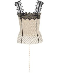 Lug Von Siga - Sleeveless Embroidered Lace Top - Lyst