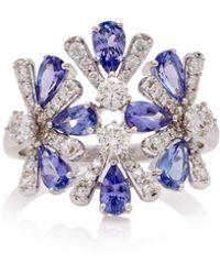 Hueb - M'o Exclusive 18k White Gold, Tanzanite And Diamond Ring - Lyst